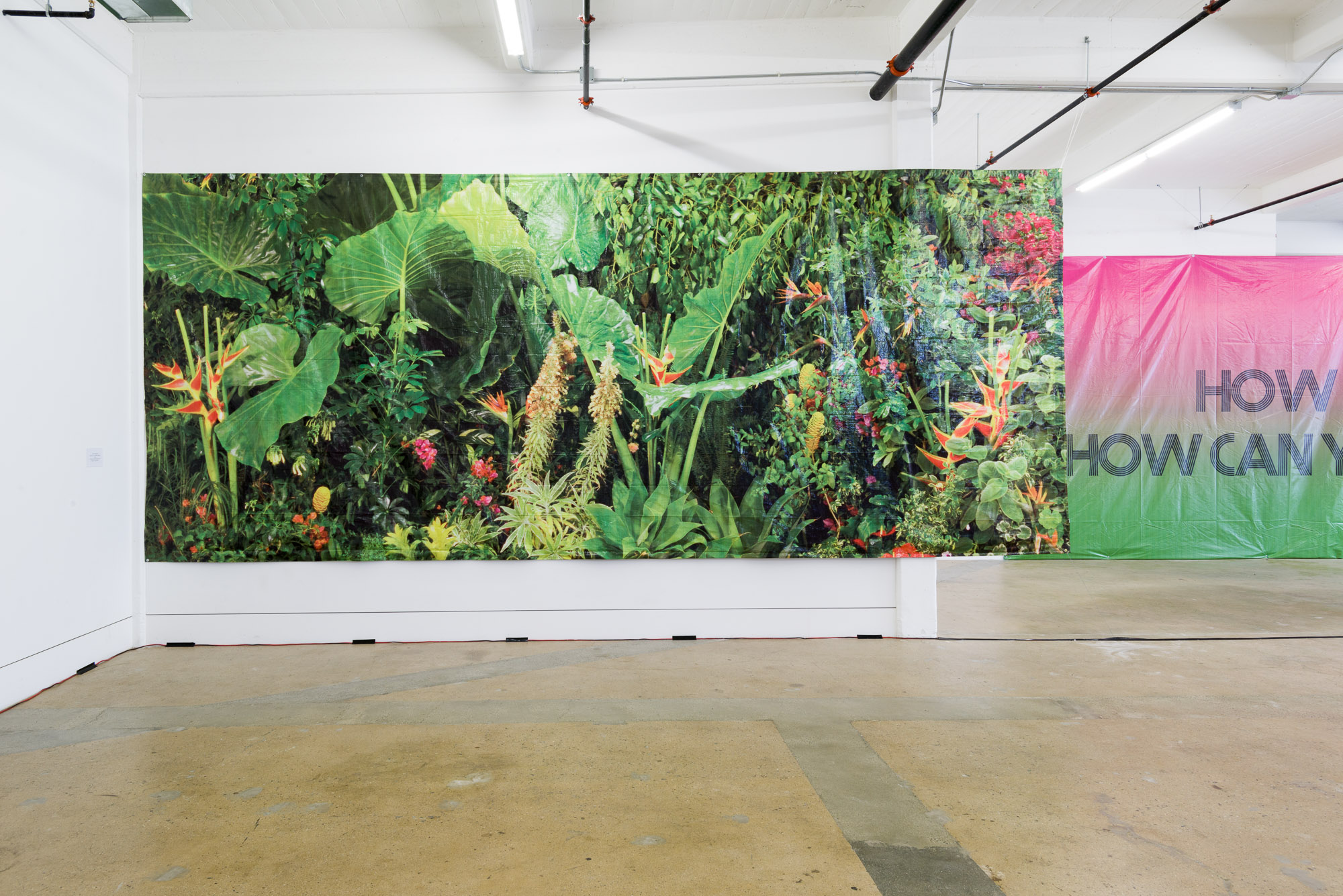 Installation view, The Manifest Destiny Billboard Project Exhibition, LAND and Los Angeles Confidential, Los Angeles, CA, June 2015