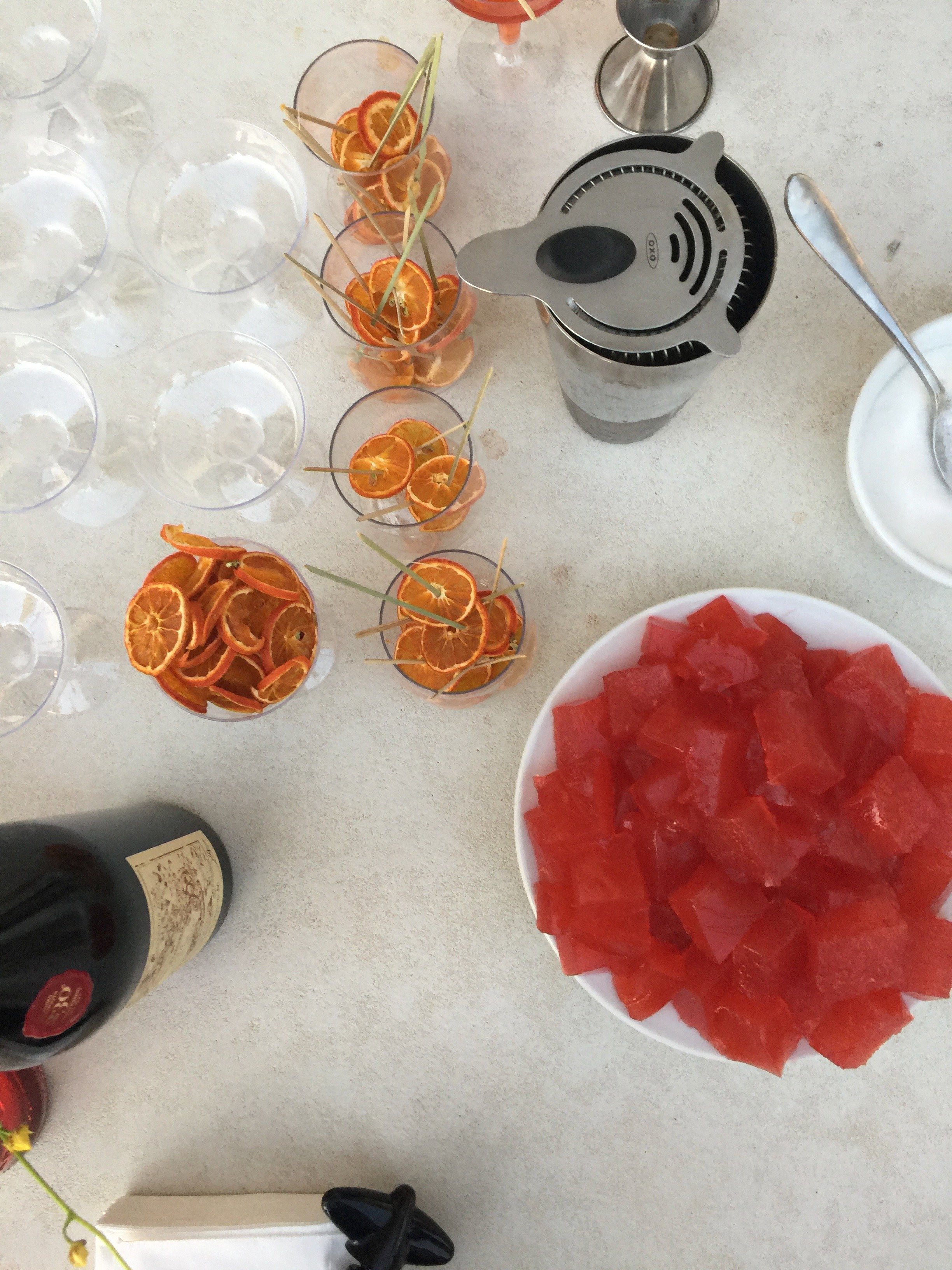 A Deconstructed Negroni
