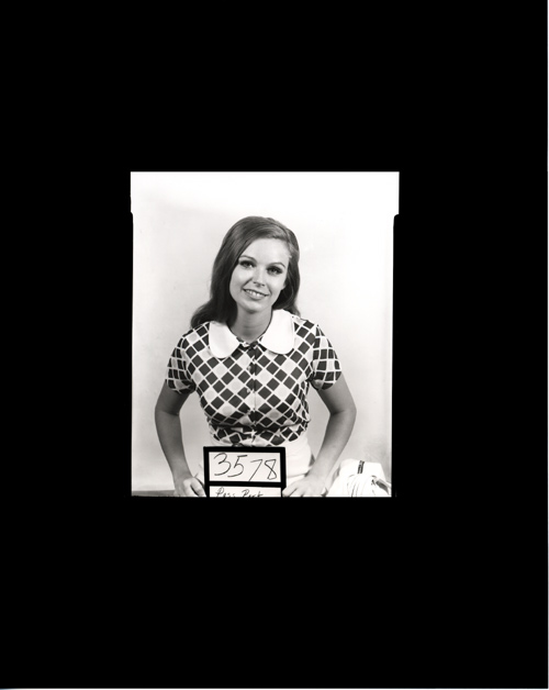 Her Passport photo from a 4x5